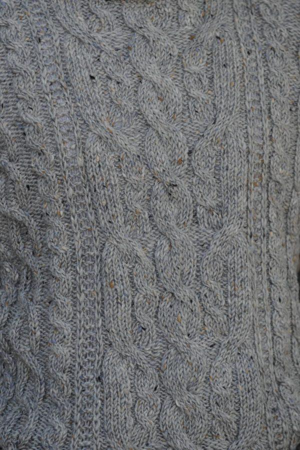 Heritage Aran Sweater - Granite