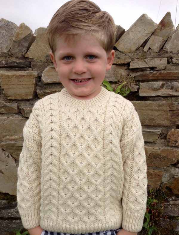 Wee Classic Childrens Aran Sweater Liam