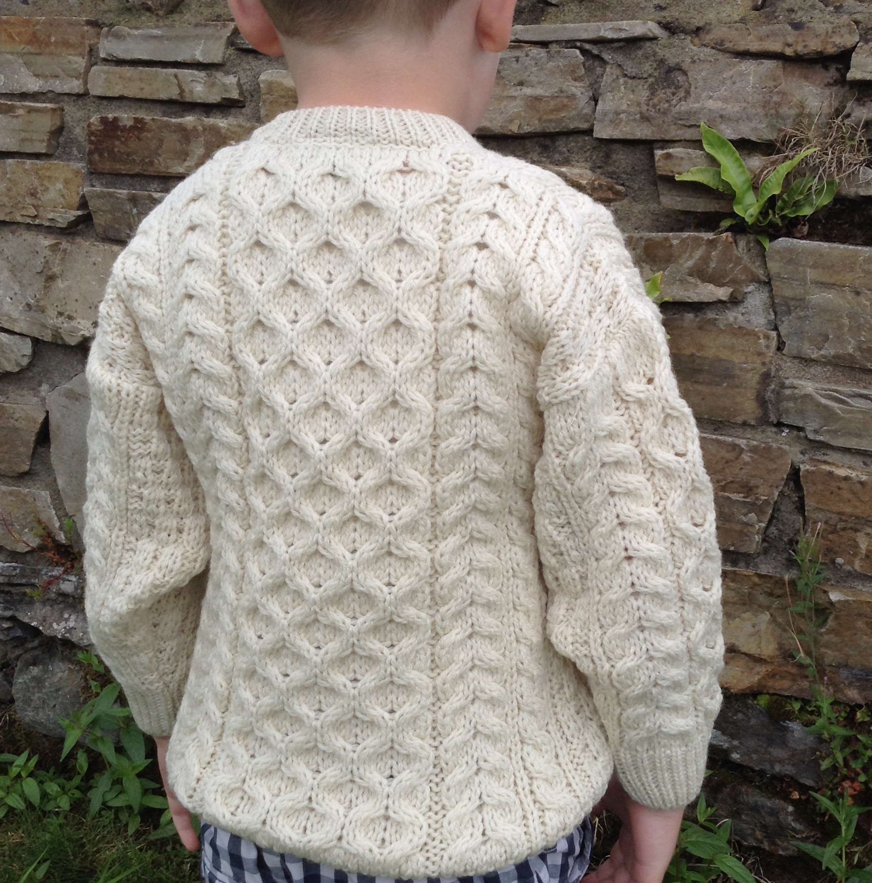Wee Classic Childrens Aran Sweater