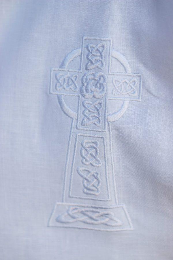Celtic Cross (Short Sleeve) Christening Gown detail