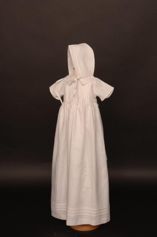 Celtic Cross (Short Sleeve) Christening Gown