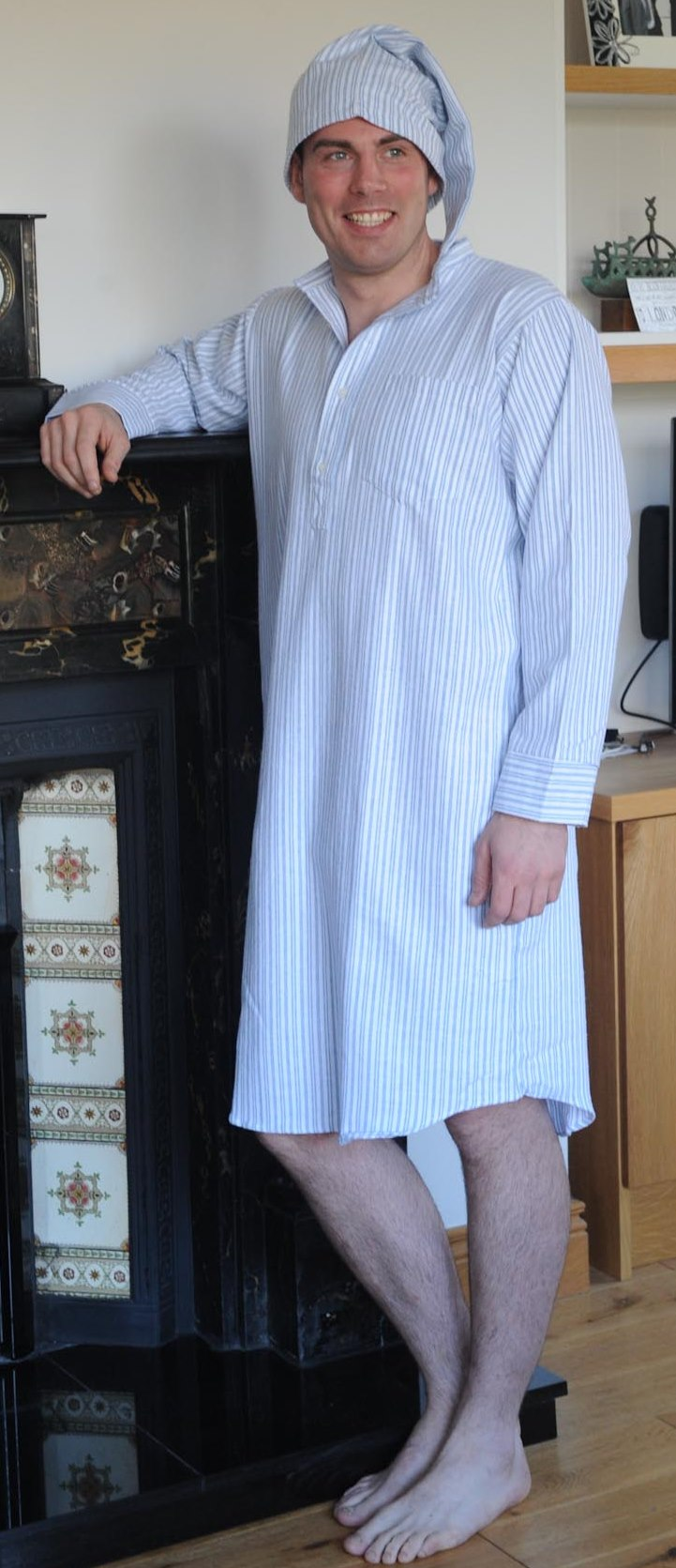 Gleneske Traditional Stripe Irish Nightshirt