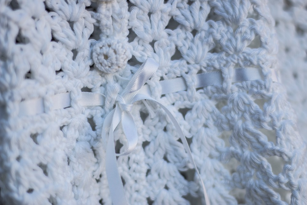 Crochet Legacy Christening Gown detail