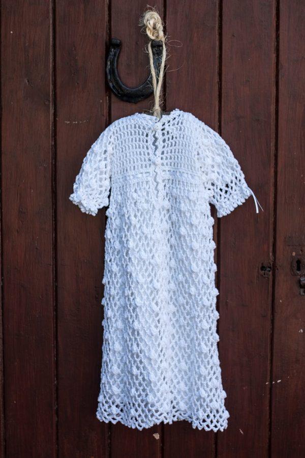 Crochet Legacy Christening Gown back