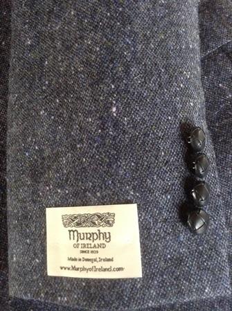 'Narin' Custom Tailored Handwoven Irish Tweed Jacket