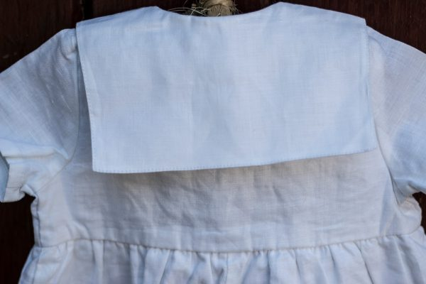 Pintuck Romper Christening Outfit back