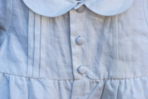 Pintuck Romper Christening Outfit detail