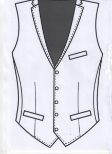 Waistcoat Custom Tailored with Lapels
