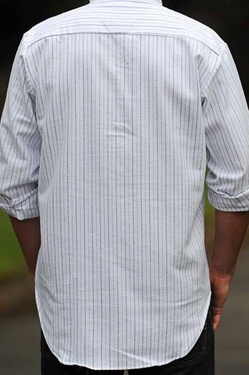 Grandfather Shirt Atlantic Blue
