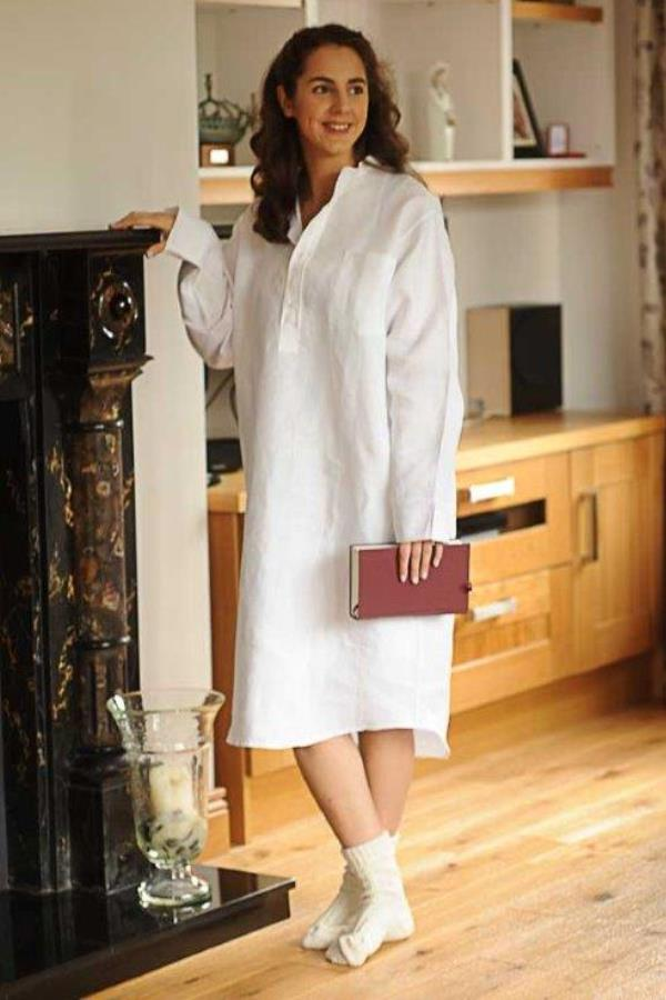 Ladies Irish Linen Nightshirt  20ac9ac2d
