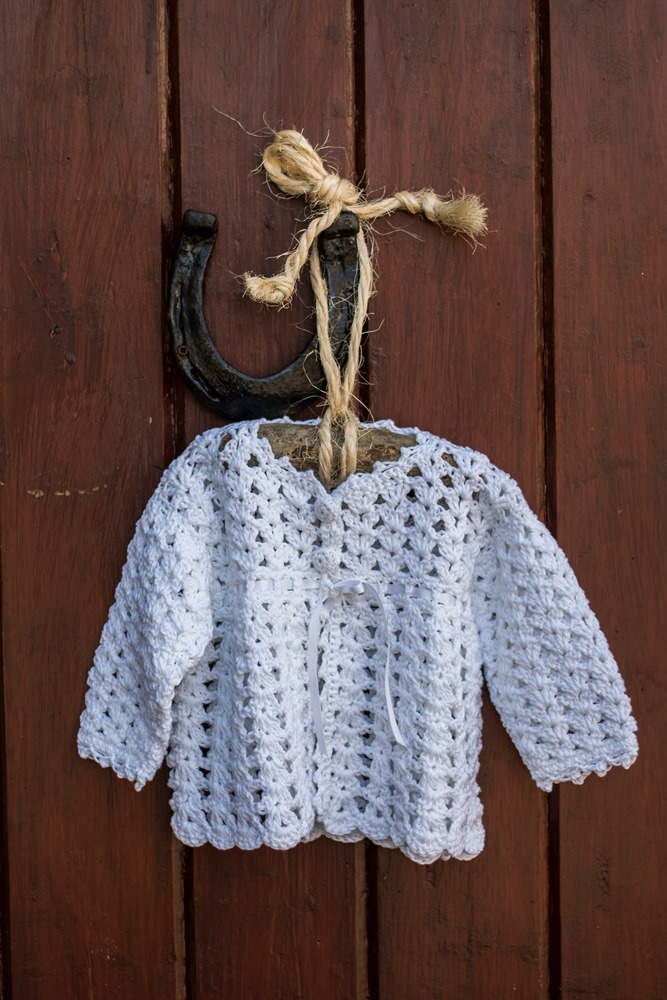 Hand Crochet : ... Christening Accessories Irish Hand Crochet Christening Cardigan
