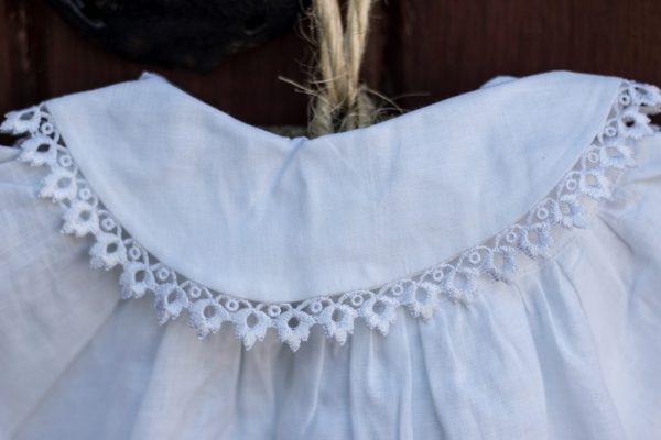 Irish Linen Christening Coat detail