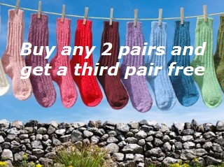 Irish Tweed Socks 3 pairs for the price of 2