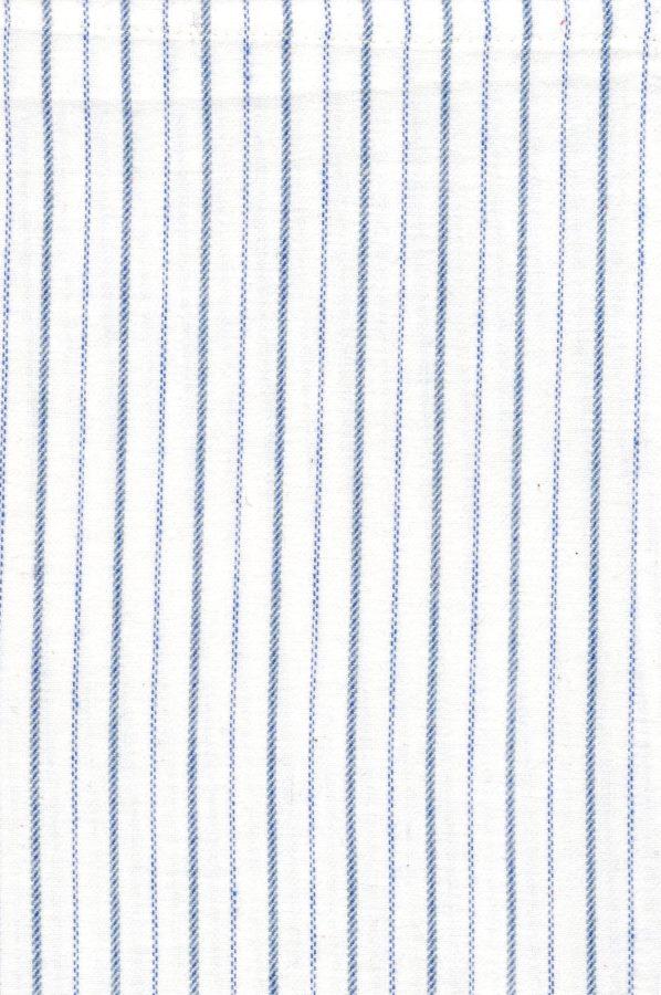 Gleneske Traditional Stripe Ladies Irish Nightshirt Atlantic Blue