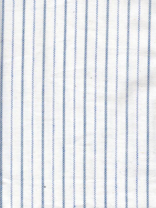 Gleneske Traditional Stripe Irish Nightshirt Atlantic Blue