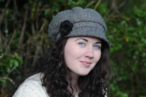 Ladies Belfast Newsboy Cap Blank Onyx
