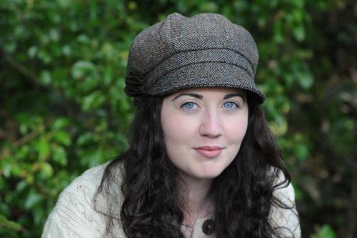 Ladies Belfast Newsboy Cap Chocolate Brown