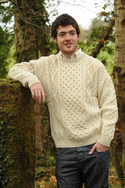 Classic Aran Sweater Natural