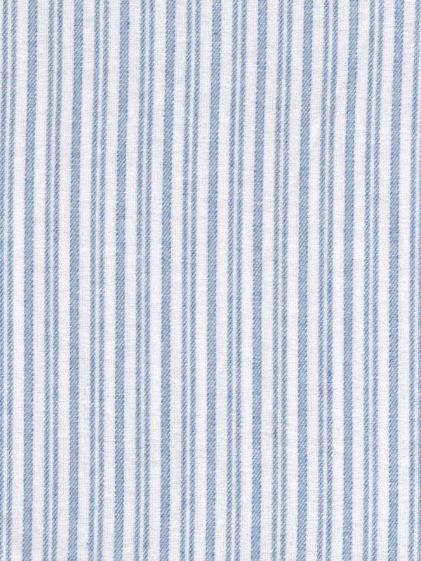 Gleneske Traditional Stripe Irish Nightshirt Classic Blue