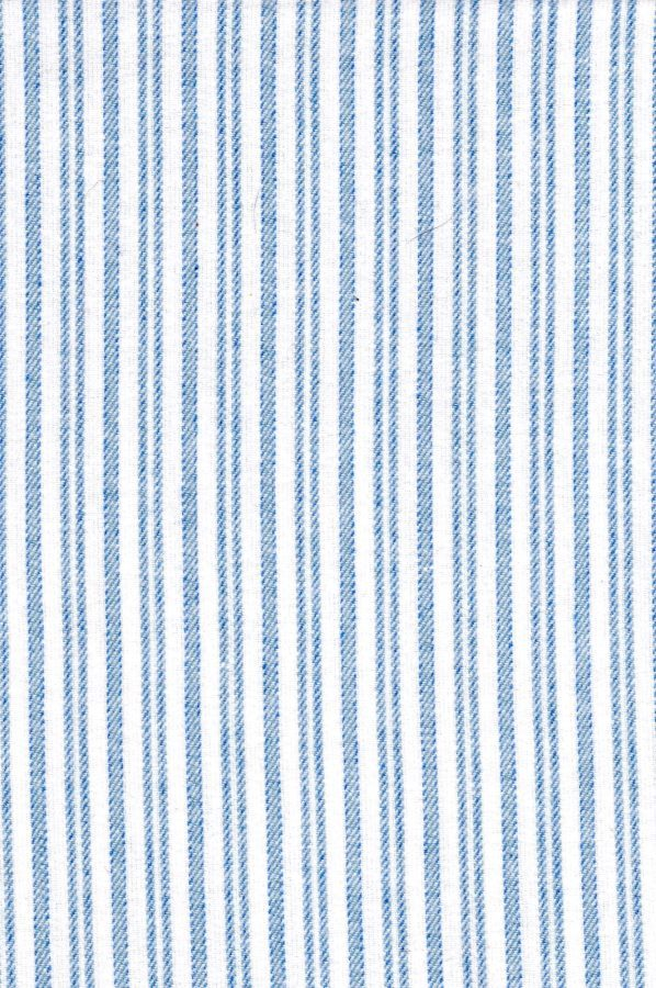 Gleneske Traditional Stripe Ladies Irish Nightshirt Classic Blue