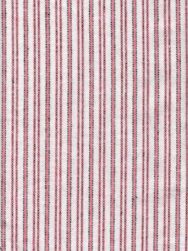 Gleneske Traditional Stripe Irish Nightshirt Cranberry