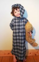 Childrens Gleneske Tartan Irish Nightshirt and Cap Dress Gordon
