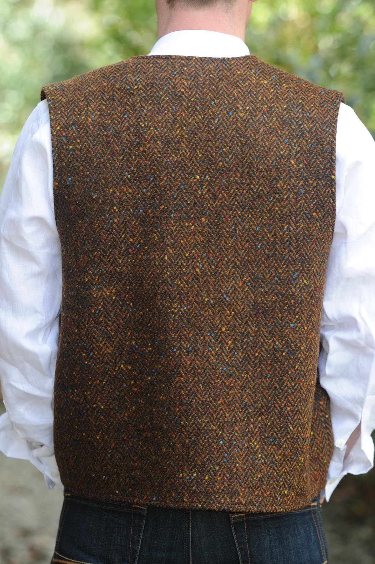 Glengesh Tweedback Waistcoat Brown
