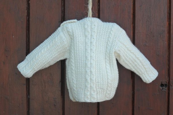 Little Legacy Aran Sweater Natural