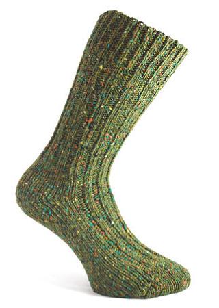 Donegal Tweed Sock - Fern Green