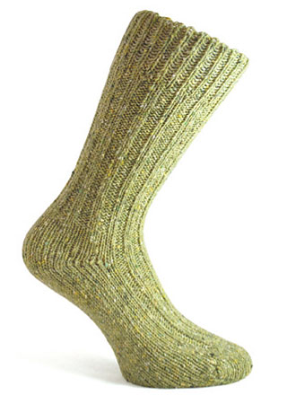 Donegal Tweed Sock - Olive Green