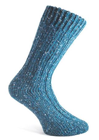Donegal Tweed Sock - Steel Blue