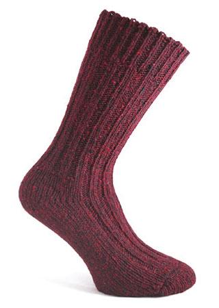 Donegal Tweed Sock - Wine