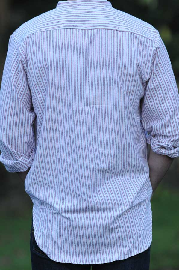 Gleneske Irish Grandfather Shirt Cranberry