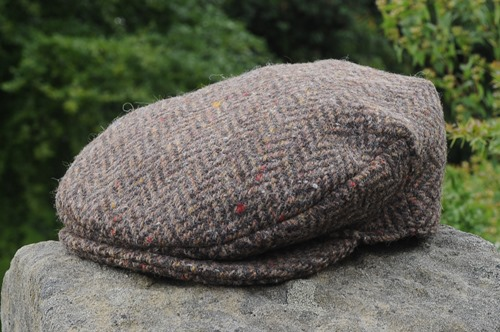 Herringbone Tweed Cap Brown/Beige
