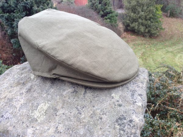 Irish Linen Cap Green