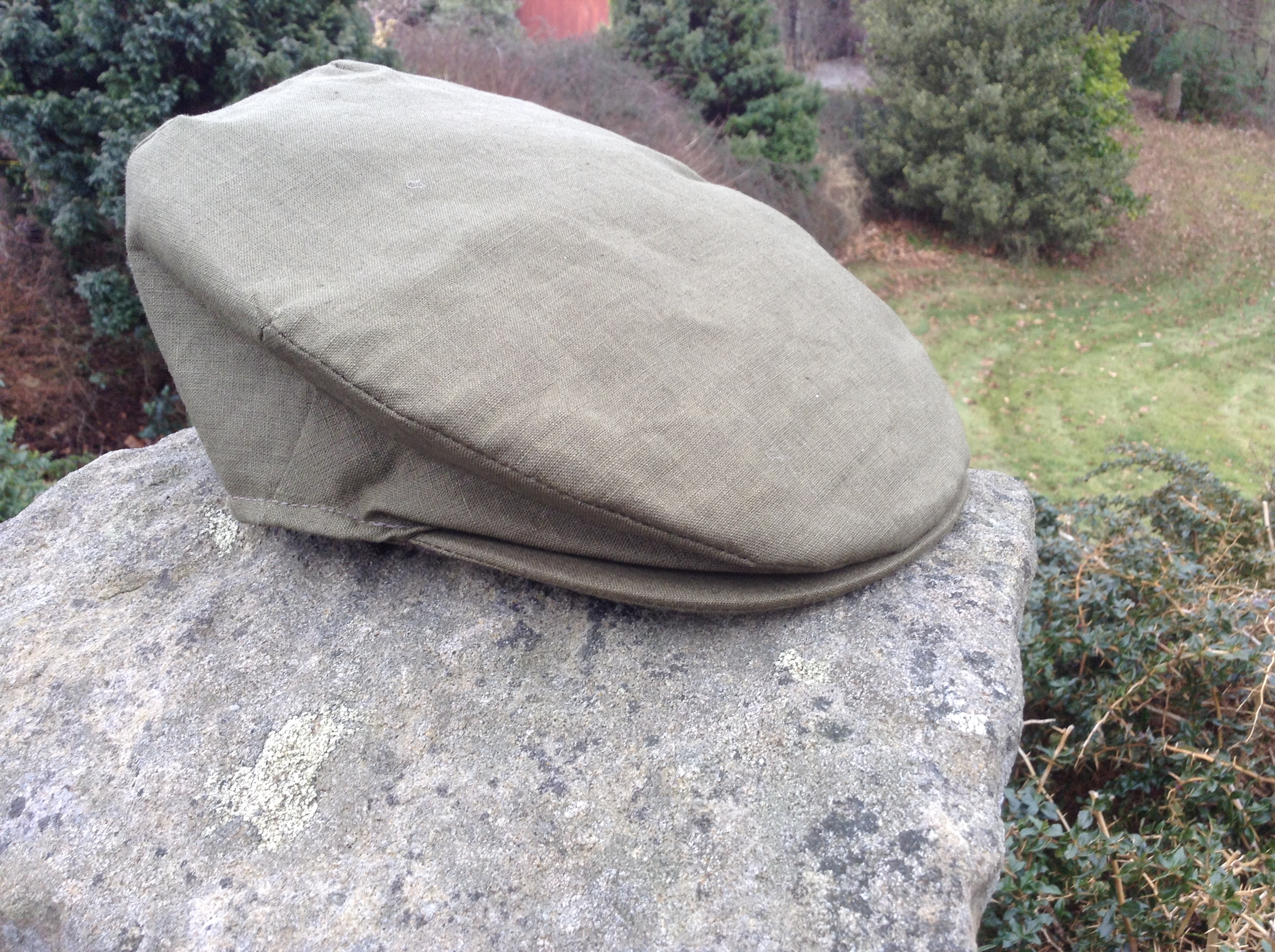 Irish Linen Cap Green