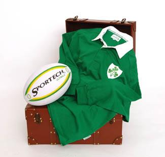 Children's Irish Rugby Shirt Collar