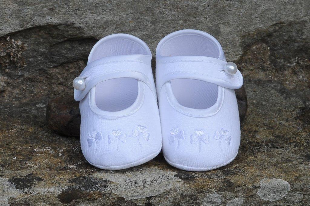'Little Lady' Christening Shoes Shamrock