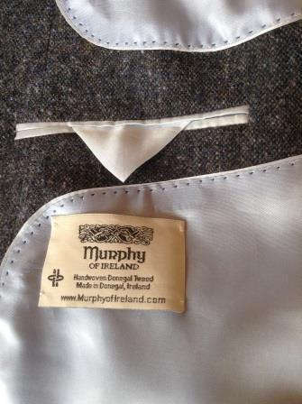 """Narin"" Custom Tailored Handwoven Irish Tweed Jacket"