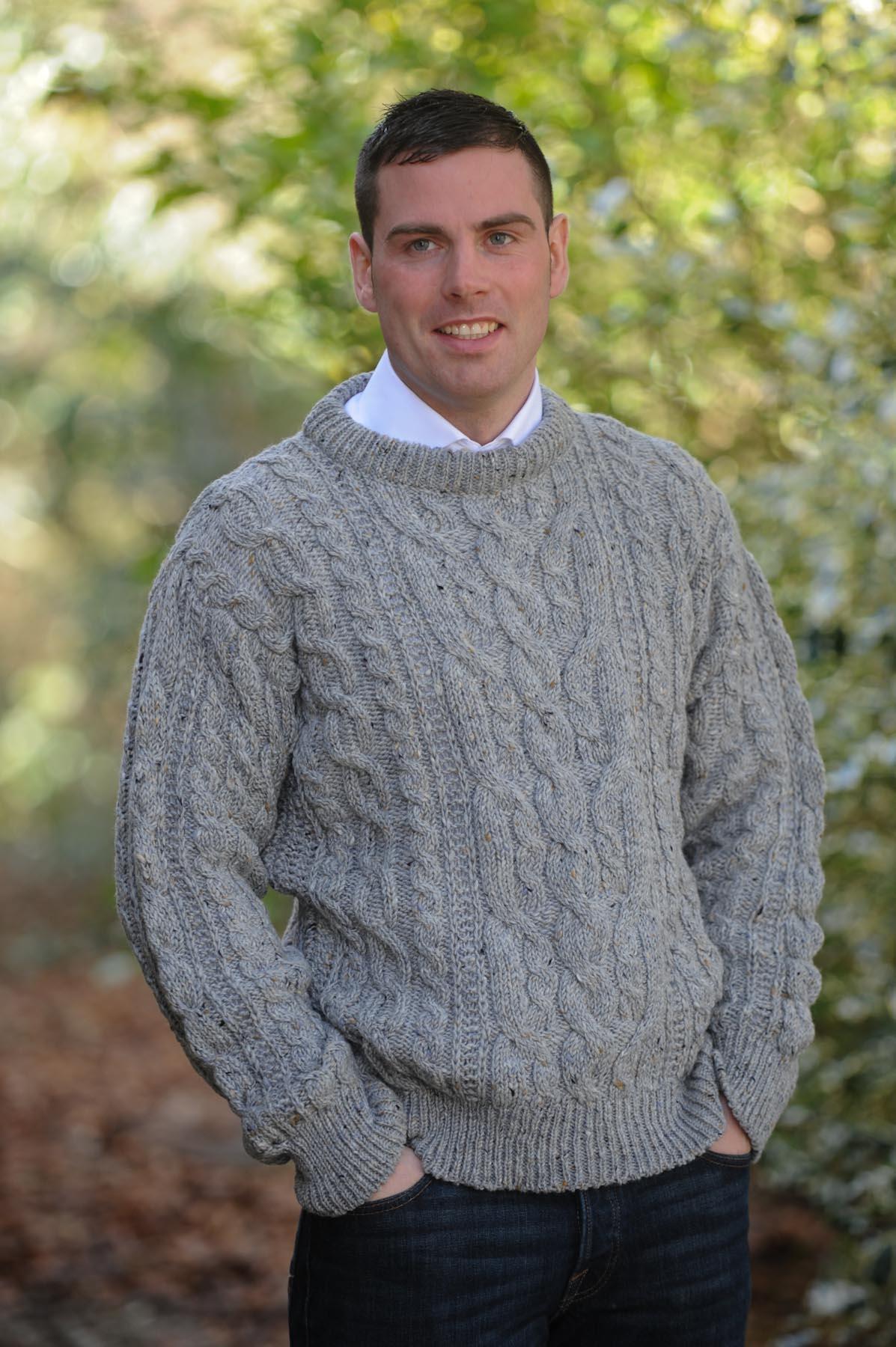 Heritage Aran Sweater Granite