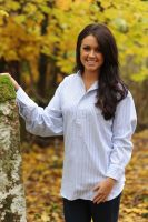 Gleneske Ladies Grandfather Shirt Classic Blue