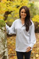 Gleneske Ladies Grandfather Shirt Emerald Green