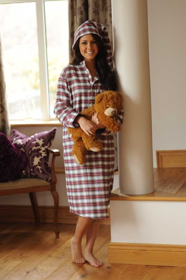 Gleneske Tartan Ladies Irish Nightshirt and Cap Dress Stewart