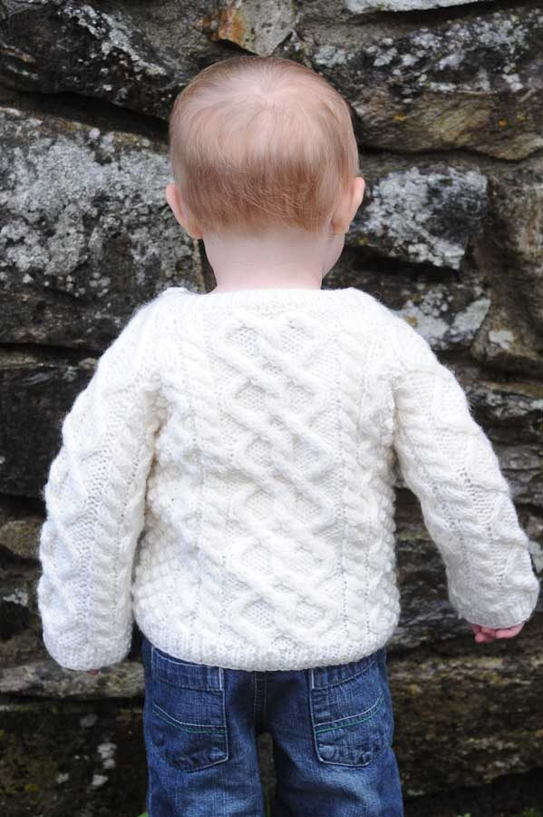 The Wee Heritage Aran Sweater Natural