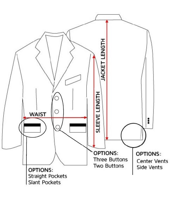 Custom Tailored Jacket Detail