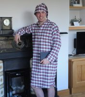 Gleneske Tartan Irish Nightshirt and Cap Dress Stewart