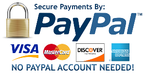 Secure Payment with PayPal or Credit Card