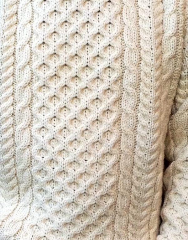 Legacy Aran Sweater Natural Detail