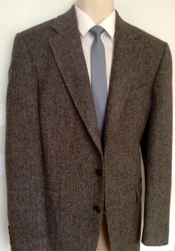 Herringbone Tweed Jacket with Fleck
