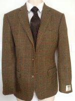 Irish Country Check Handwoven Donegal Tweed Jacket
